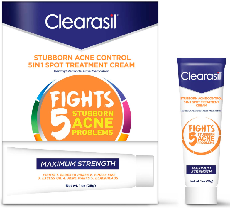 CLEARASIL® Stubborn Acne Control 5 in 1 Spot Treatment Cream