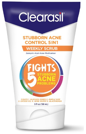 CLEARASIL® Stubborn Acne Control 5 in 1 Weekly Scrub