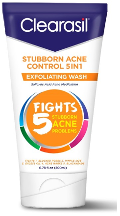 CLEARASIL® Stubborn Acne Control 5 in 1 Exfoliating Wash