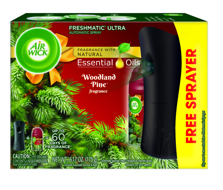 AIR WICK® FRESHMATIC Ultra Starter Kit - Woodland Pine (Spread The Joy™)