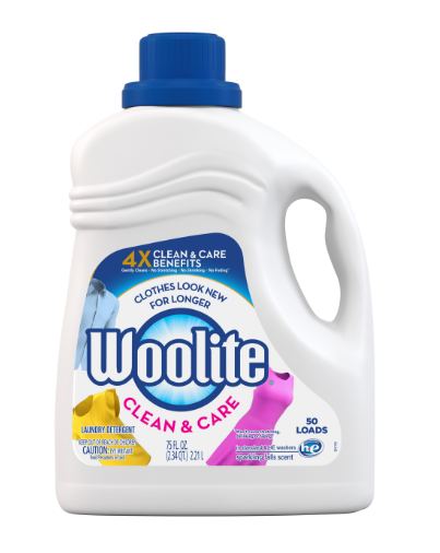 WOOLITE® Clean & Care Laundry Detergent - Sparkling Falls Scent