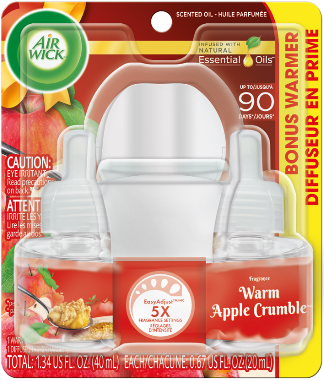 AIR WICK Scented Oil  Warm Apple Crumble Spread The Joy Canada Photo