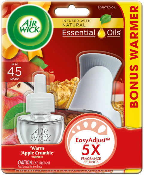 AIR WICK® Scented Oil Starter Kit - Warm Apple Crumble (Spread The Joy™)
