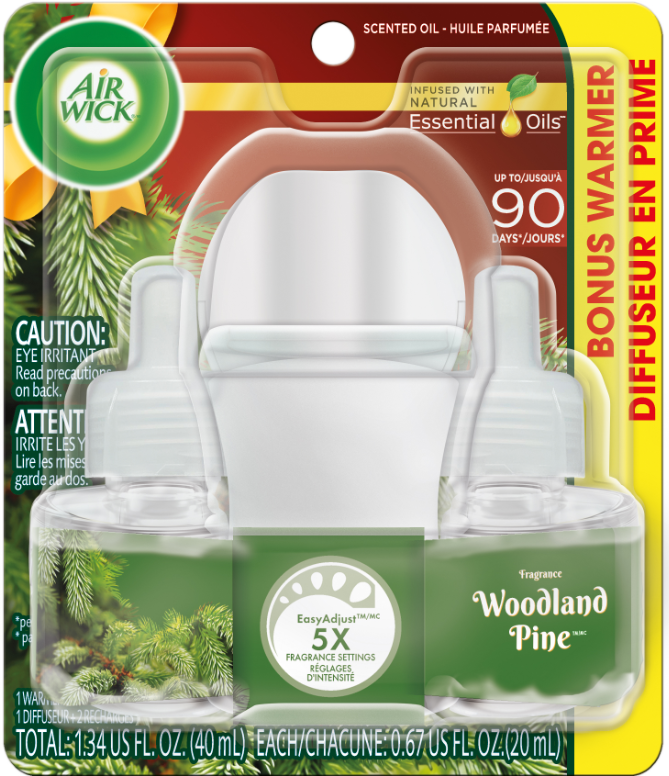 AIR WICK® Scented Oil Starter Kit - Woodland Pine (Spread The Joy™)