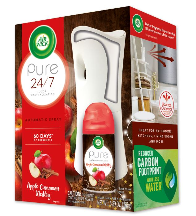 Air Wick Automatic Spray Starter Kit - Pure Apple Cinnamon Medley