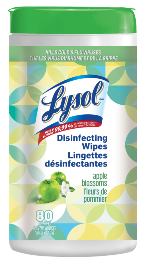 LYSOL® Disinfecting Wipes - Apple Blossoms (Canada)