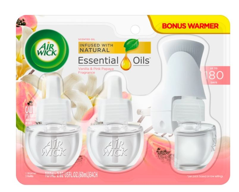 AIR WICK Scented Oil  Vanilla  Pink Papaya  Kit Photo