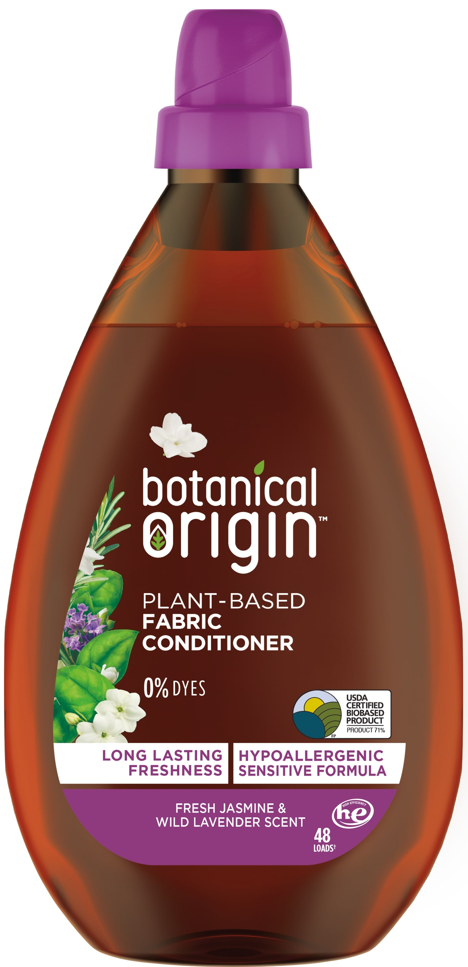 Botanical Origin™ Plant-Based Fabric Conditioner - Fresh Jasmine & Wild Lavender