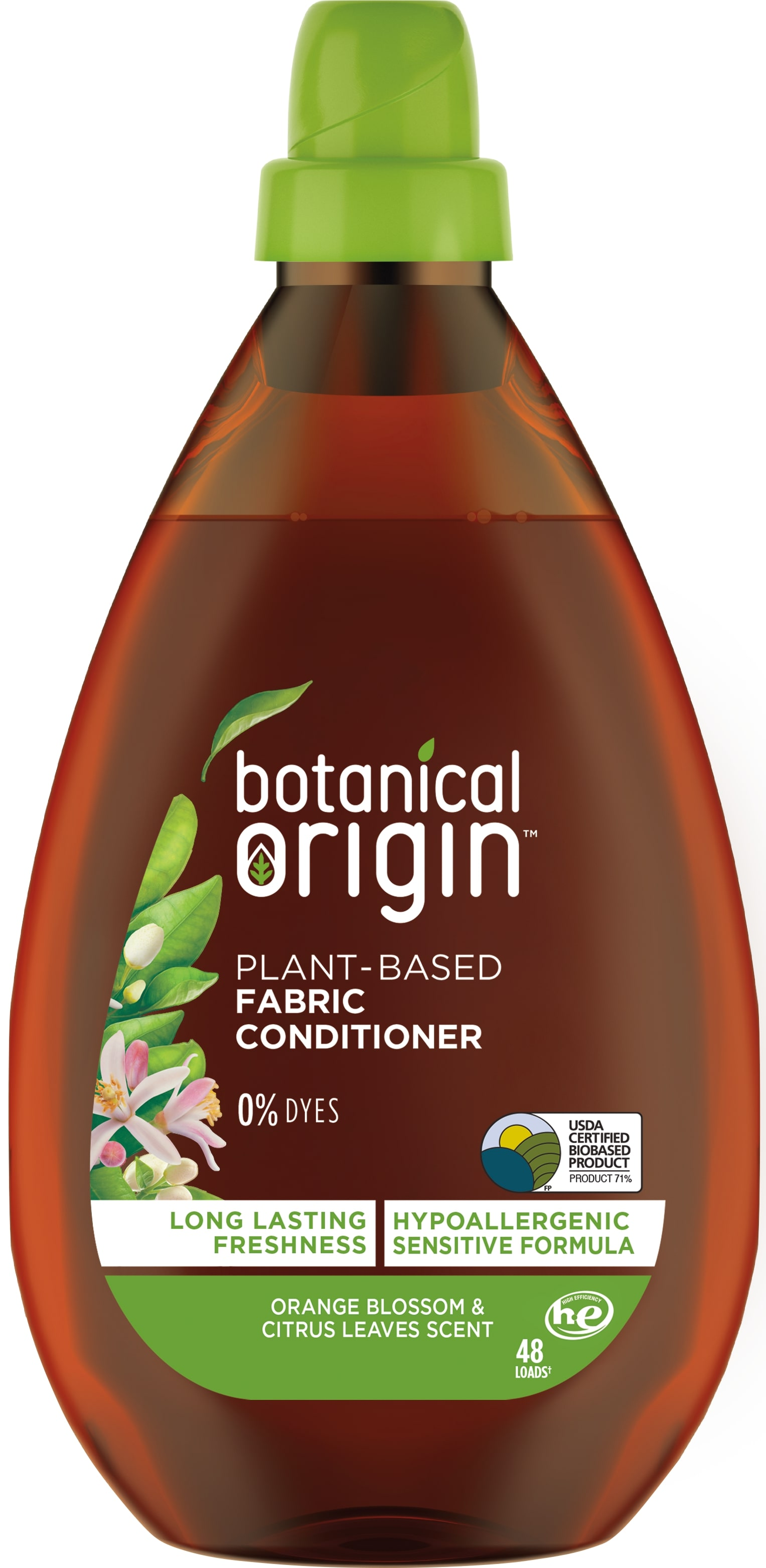 Botanical Origin PlantBased Fabric Conditioner  Orange Blossom  Citrus Leaves Photo
