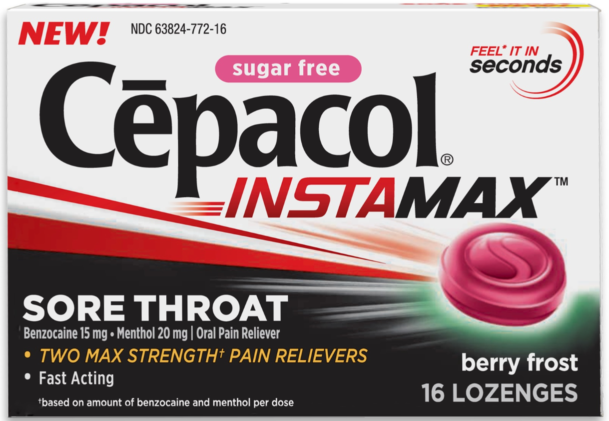 CEPACOL® Instamax Sore Throat Lozenges - Berry Frost