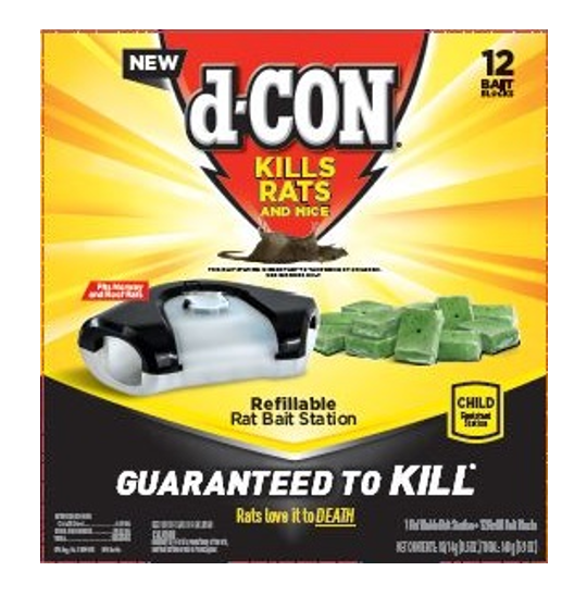 d-Con® Refillable Rat Bait Station