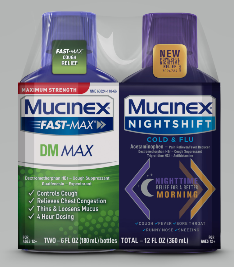 MUCINEX® FAST-MAX® DM Max & Night Shift Cold & Flu Adult Liquid