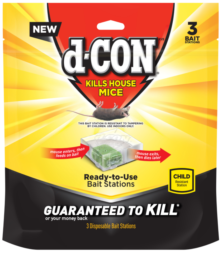 d-CON® XVII Kills House Mice - Disposable