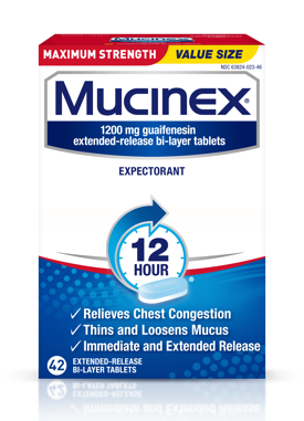 MUCINEX® FAST-MAX® Cold, Flu & Sore Throat Caplets