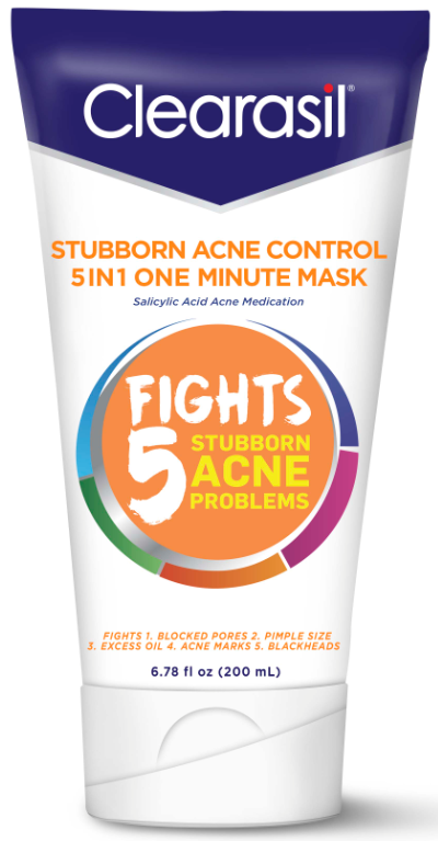 CLEARASIL® Stubborn Acne Control 5 in 1 One Minute Mask