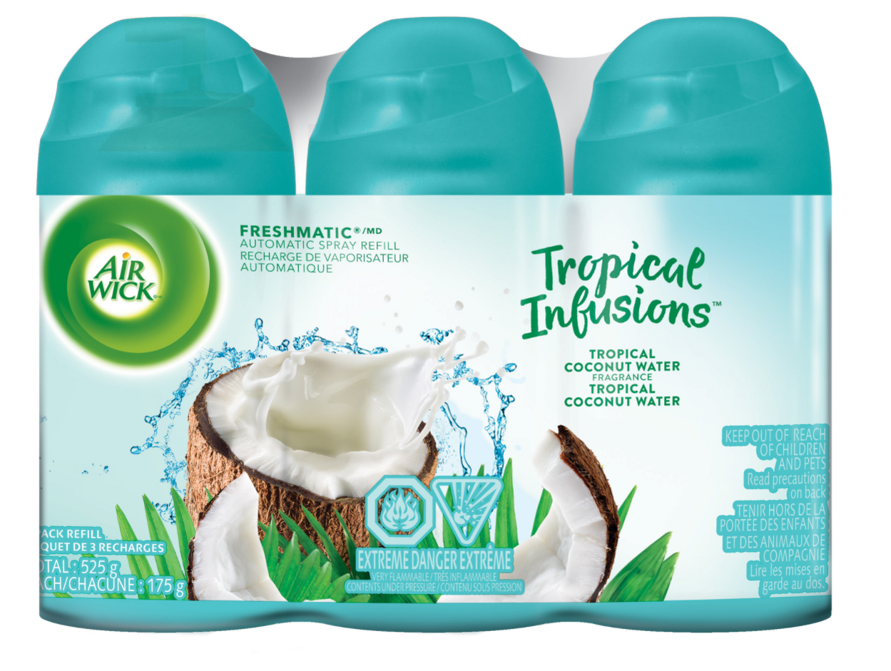 AIR WICK FRESHMATIC  Tropical Infusions Tropical Coconut Water Canada Photo